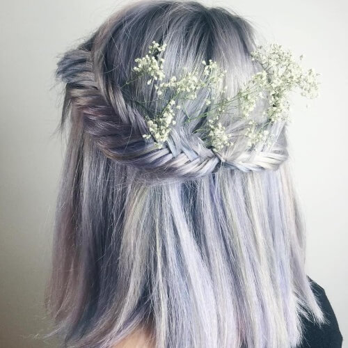Pastel Prom Hairstyles for Short Hair