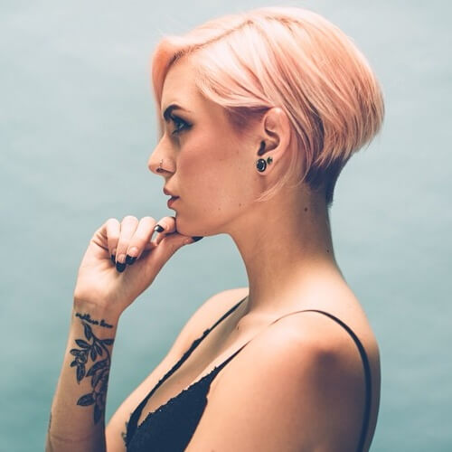 Pastel Wedge Haircut