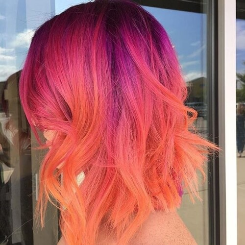 Peach and Magenta Ombre