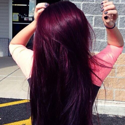Plum Magenta Hair Color