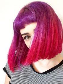 Purple and Fuchsia Hair