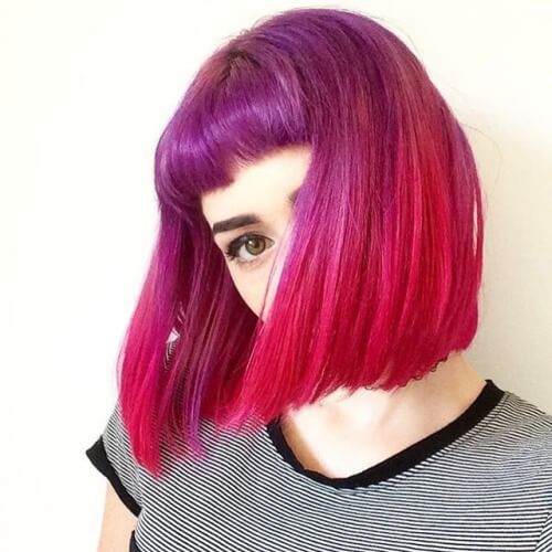 Purple and Fuchsia Hair