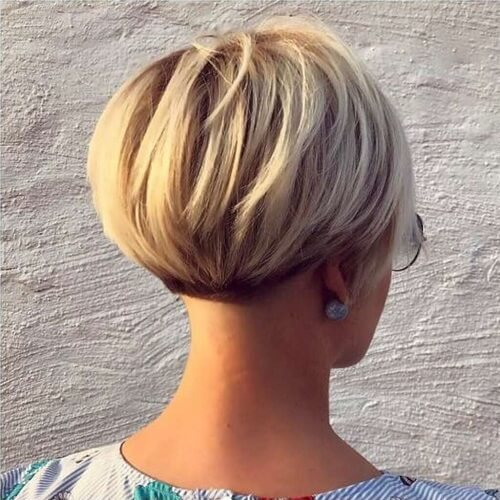 Rounded Wedge Hairstyle