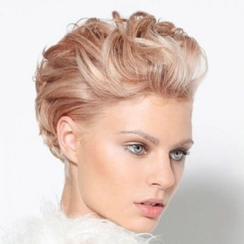 Ruffled Wedding Hairstyles for Short Hair