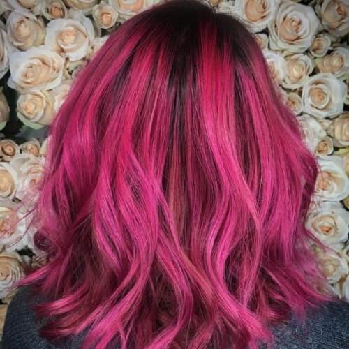 Shadow Roots and Magenta Hair