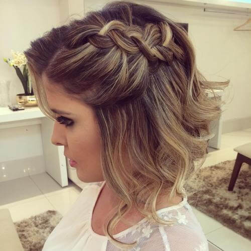 Side Braid Prom Hairstyles For Short Curly Hair