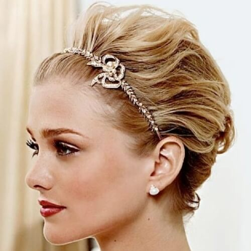 50 Wedding Hairstyles For Short Hair