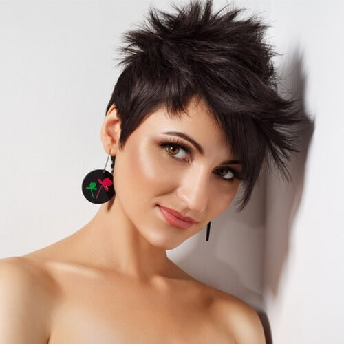 Spiky Wedge Hairstyle