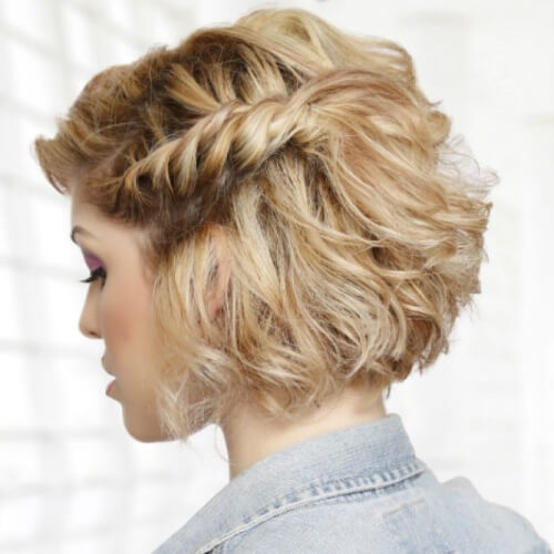 Twisted Braid Prom Hairstyles for Short Hair