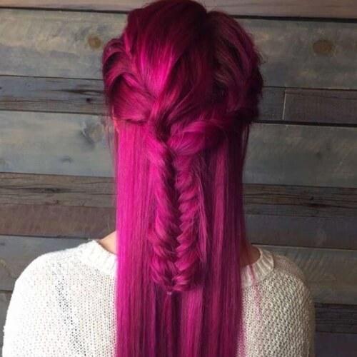 Velvet Magenta Hair