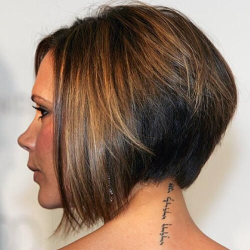 Victoria Beckham Wedge Haircut