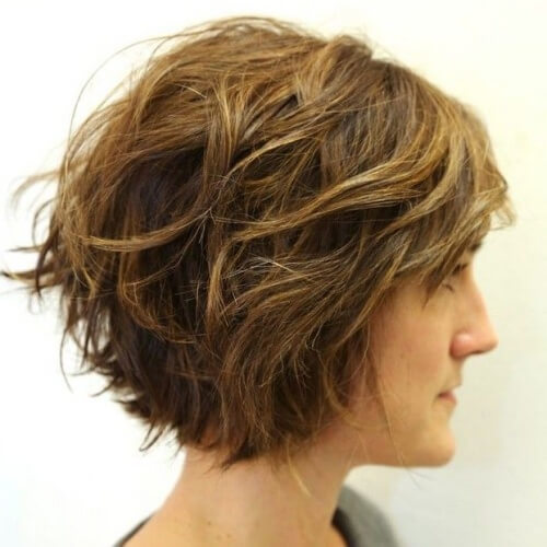 Wavy Wedge Hairstyle
