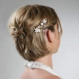 wedding hairstyles for short hair half up half down | hair