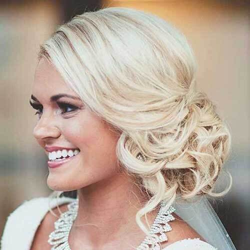 Wedding Hairstyles for Short Hair with Side Bun