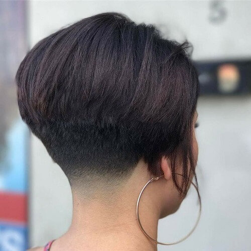 Wedge Haircut with Nape Fade