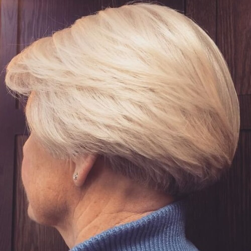 Wedge Hairstyle for Older Women