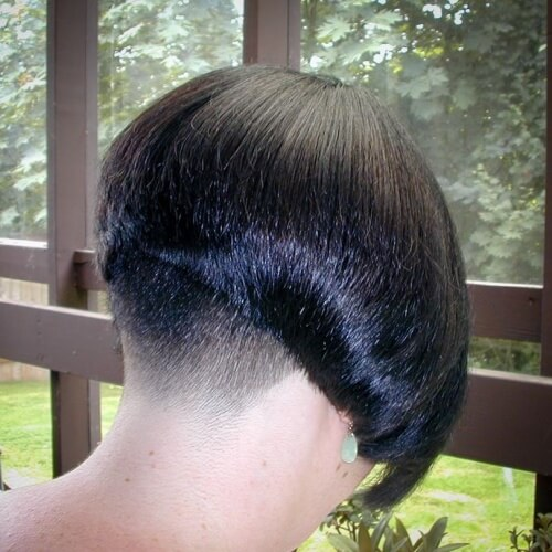 Wedge Hairstyle with Undercut