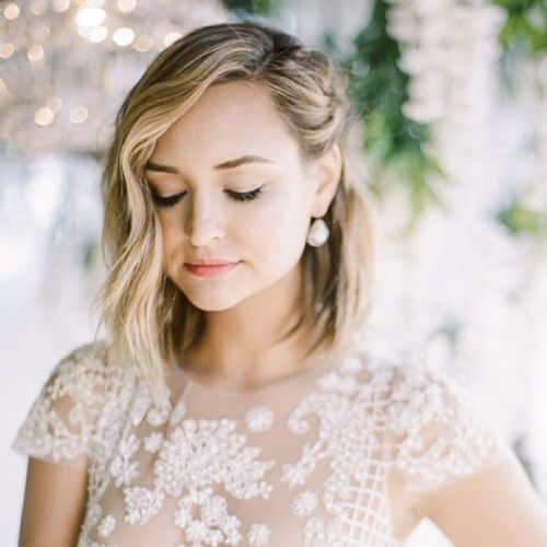 Bridal Short Haircuts for Fine Hair