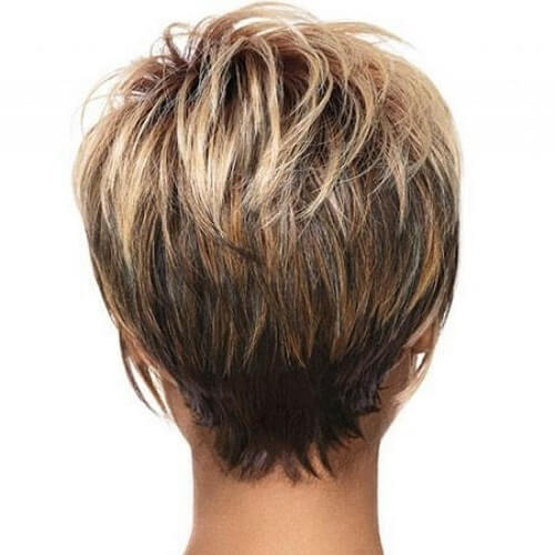 Color Mix Short Haircuts for Fine Hair