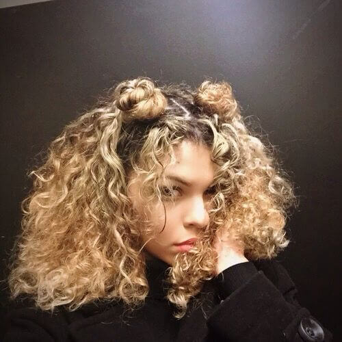 Curly Space Buns