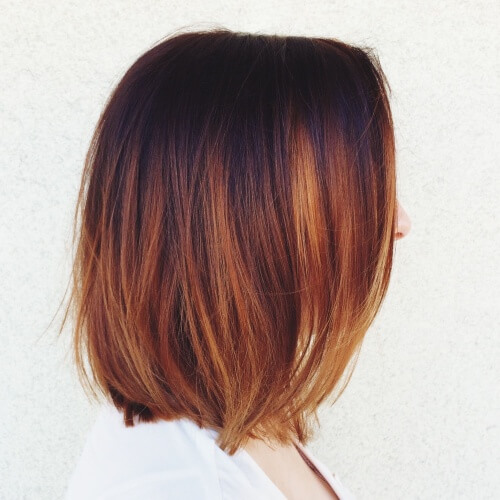Deep Copper Ombre Hair