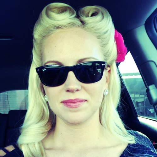 Double Victory Rolls Vintage Hairstyles