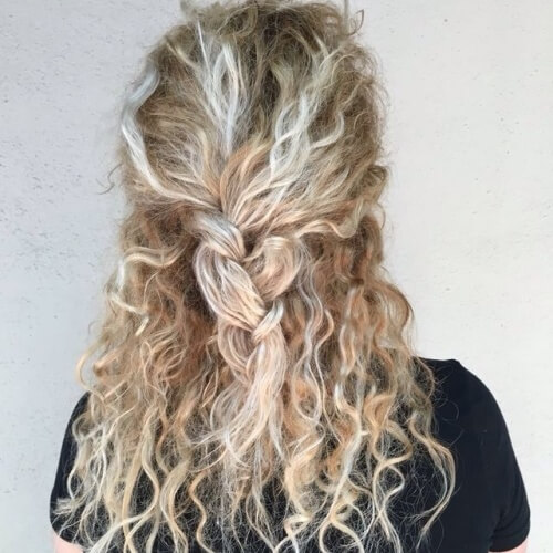 Half up Braided Hair