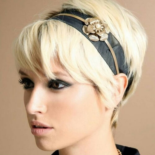 Headband Hairstyles with Short Hair