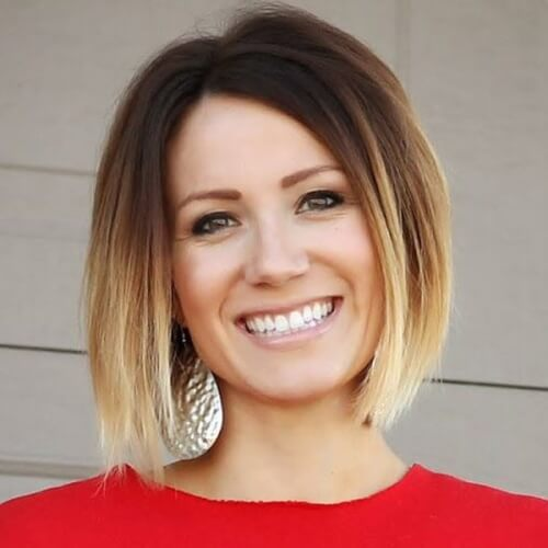 Honey Blonde Ombre Bob
