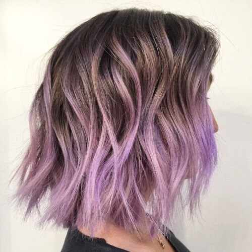Lavender Short Ombre Hair