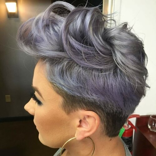 Metallic Short Ombre Hair