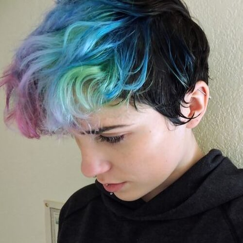 Multi-pastel Ombre Hair