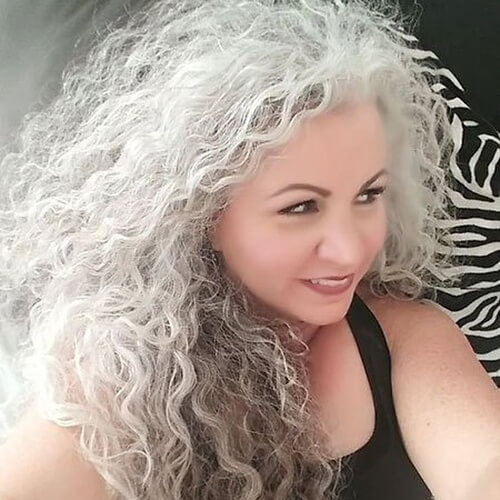 Naturally Graying Long Curly Hairstyles