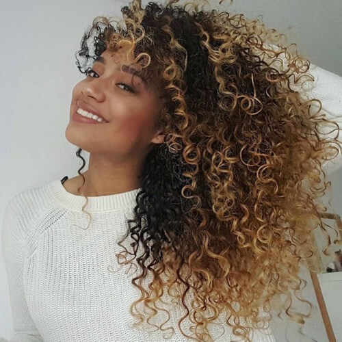 Ombre Long Curly Hairstyles
