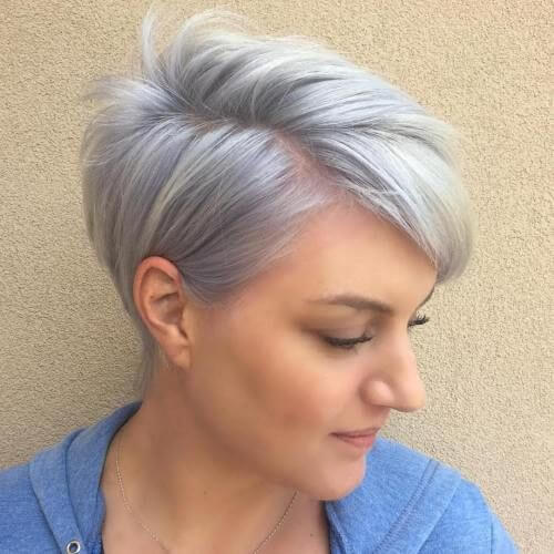 Pastel Short Haircuts for Fine Hair