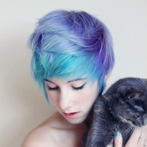 Pastel Short Ombre Hair