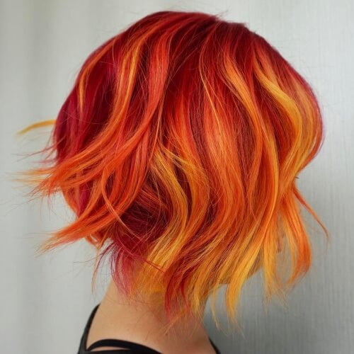 Short Fire Ombre Hair