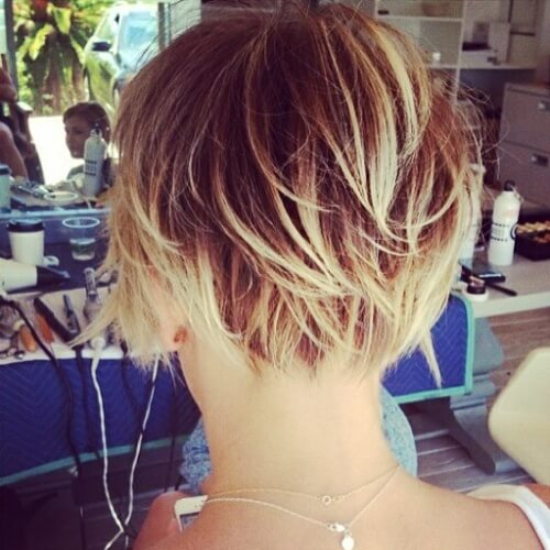 Short Hair with Bleached Tips