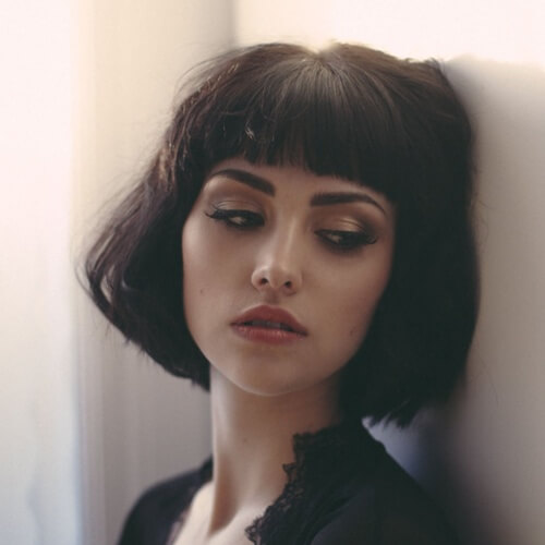 Short Haircuts for Fine Hair with Blunt Bangs
