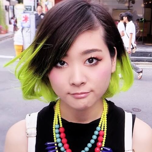 Short Lime Ombre