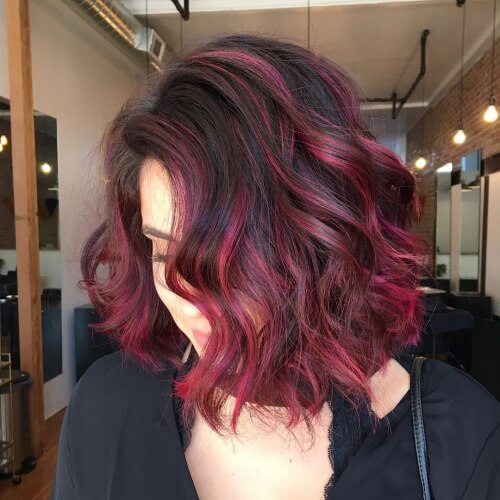 Short Ombre Hair with Highlights