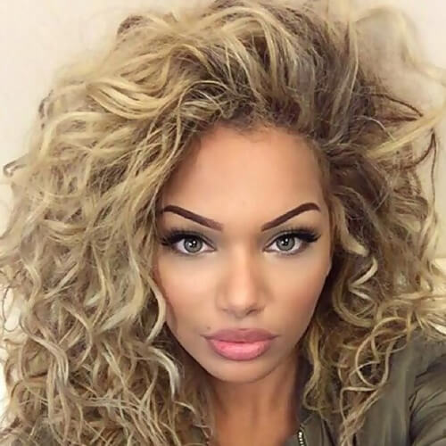 Side-tossed Curly Hair