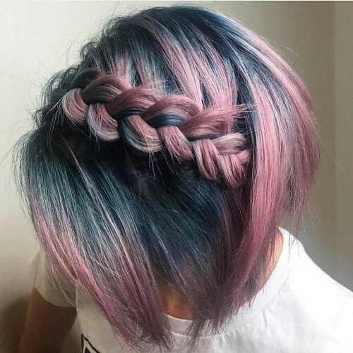 Turquoise and Pink Ombre Hair