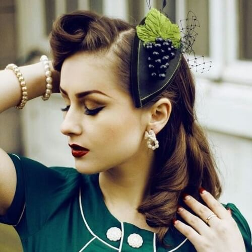 Vintage Hairstyles with Hairpiece