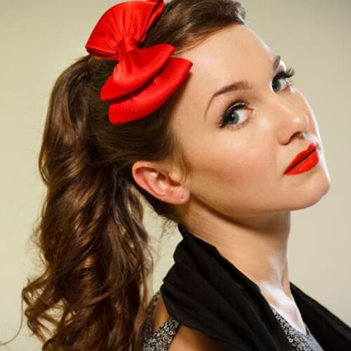 Vintage Hairstyles with Ponytails