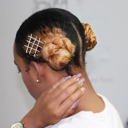 Bicolor Protective Hairstyles for Natural Hair