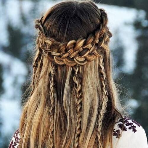 Boho Hairstyles for Christmas Party