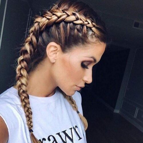Boxer French Braid Hairstyles