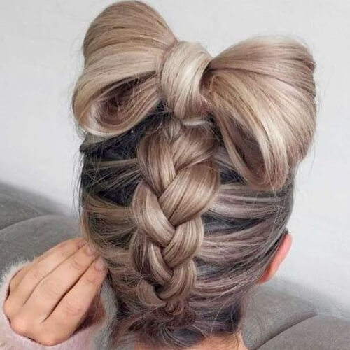 Braid into Bow Updos