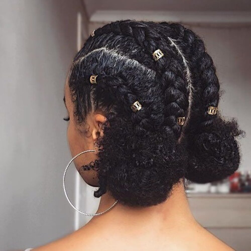 Braids and Buns Protective Hairstyles for Natural Hair